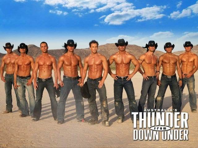Show Thunder from Down Under em Las Vegas