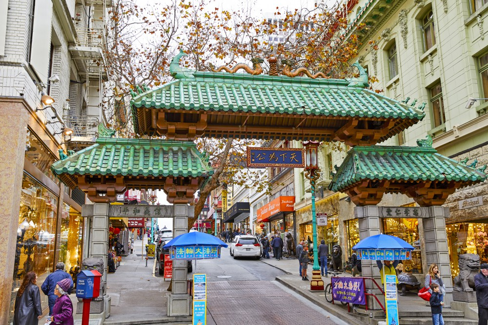 Chinatown em San Francisco na Califórnia