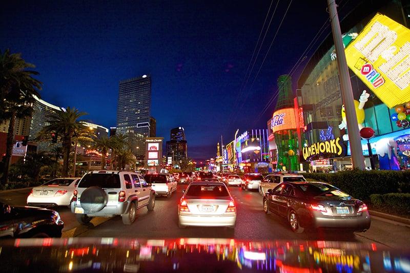 Las Vegas Strip à noite